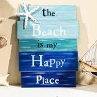 beach wood sign